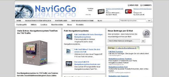 NaviGoGo.de, das Infoportal für Navigationssysteme: ein Projekt der TESTROOM GmbH.