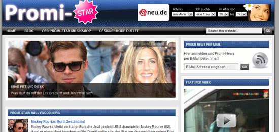 Promi-Star.de ist das Starmagazin mit Promi-News. Ein Projekt der TESTROOM GmbH.