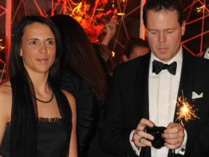 """Nicole Bralo-Dunker mit ihrem Gatten auf dem Neujahrsempfang """"La Boum 2009"""" im Hamburger Sofitel Dorint. Foto: starpress"""